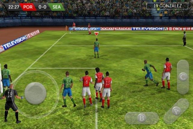 So sieht First Touch Soccer auf dem iPhone aus.