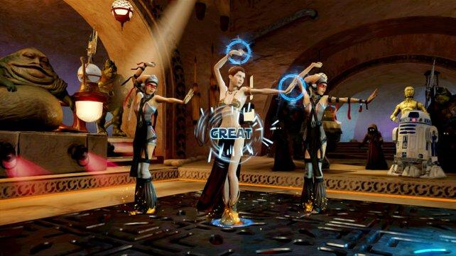 Jabbas Palast dient als Disco für Tanzwütige.