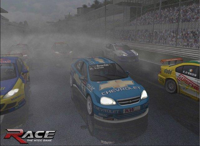 Ein Rennen im strömenden Regen