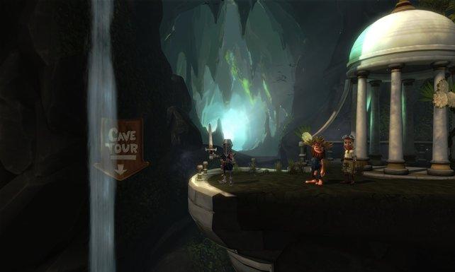 Wählt drei Charaktere und eure Reise durch die Höhle beginnt.