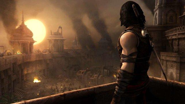 Der Prinz blickt auf das zerstörte Reich seines Bruders.