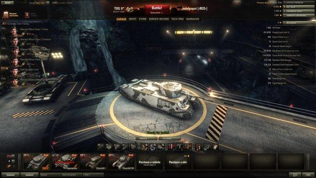 Ist das ein Schiff oder ein Panzer? Der TOG II (oder TogTog für seine Freunde) beeindruckt durch sein exzentrisches Auftreten.