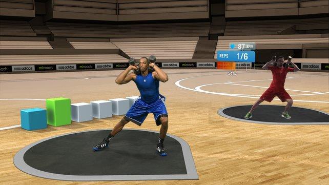 Basketball-Spieler Dwight Howard bringt euch in miCoach das Schwitzen bei.