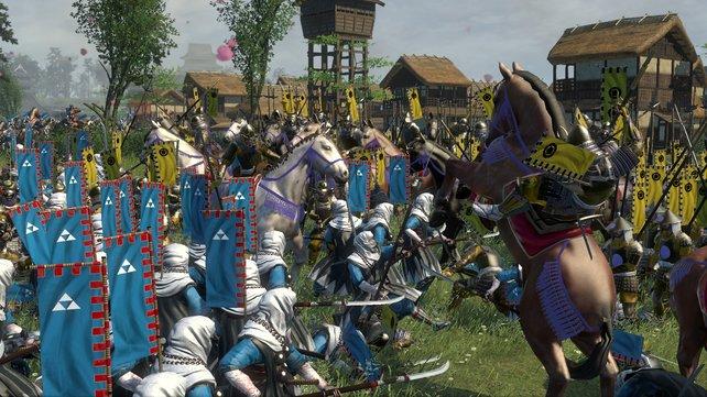 Die Animationen sind gnadenlos gut: Reiter werden abgeworfen, Pferde fallen, Soldaten sinken zu Boden.