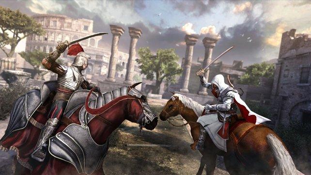 In Brotherhood liefert ihr euch spektakuläre Kämpfe zu Pferde.