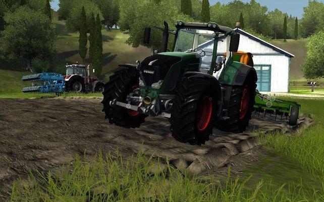 Die meisten Aufgaben erledigt ihr mit dem Traktor.