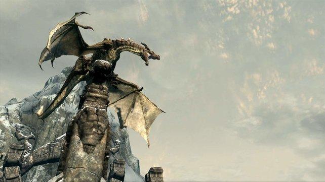 Den Drachen werdet ihr in Skyrim öfter über den Weg laufen.