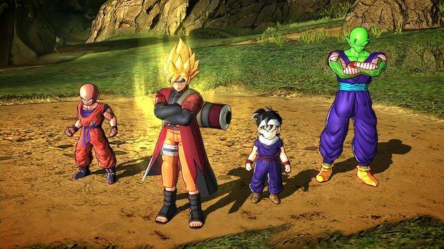 Warum so grimmig? In der Erstedition schlüpft Goku in die Klamotten von Naruto.