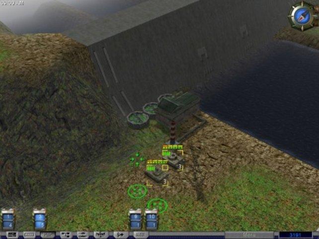 Vor einem Staudamm
