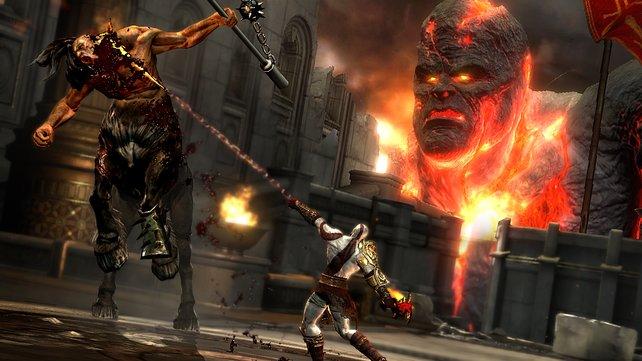 Auch mit Titanen im Nacken ist Kratos die Ruhe selbst.