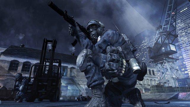 Gleich zerschneiden die Laserstrahlen der Scharfschützengewehre die Luft.