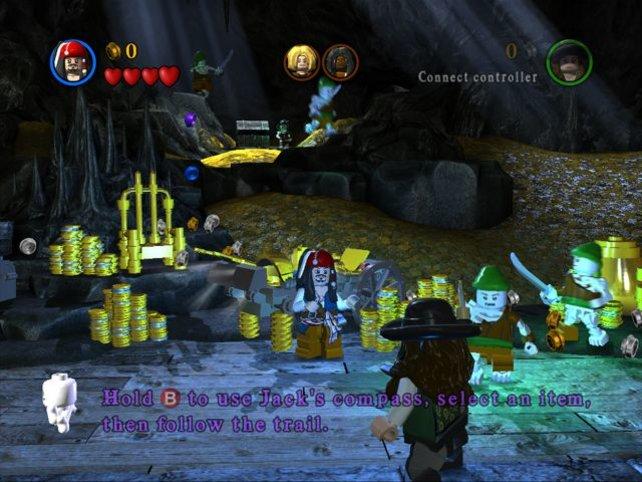 Ihr könnt in jedem Spielabschnitt viele Legosteinchen sammeln.