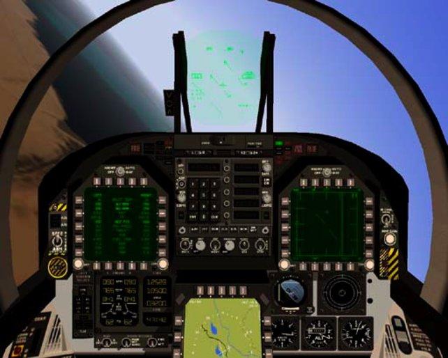 Das Cockpit der F/A 18