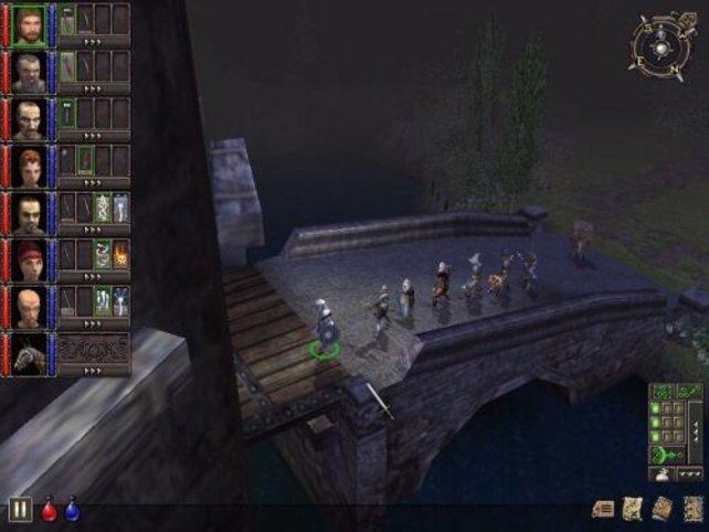 Die Burg Ehb betritt man zum Finale des Spiels