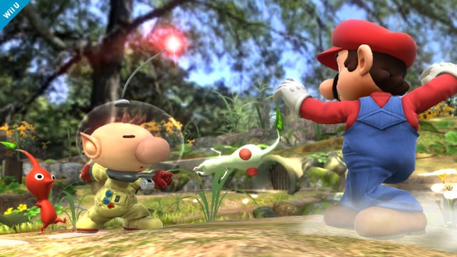 In Super Smash Bros. Brawl setzt Captain Olimar die Pikmin zum Kampf gegen andere Nintendo-Charaktere ein.