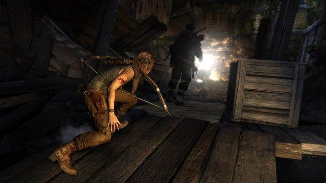 Laras Attacken von hinten sind lautlos und absolut tödlich.