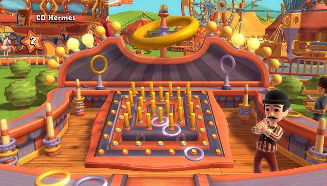 Kunterbunten Jahrmarktspaß bietet Carnival Games für Kinect auf.