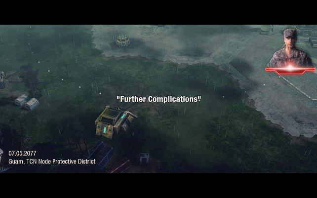 Zu Beginn jeder Mission gibt es kleines Briefing auf der Karte.