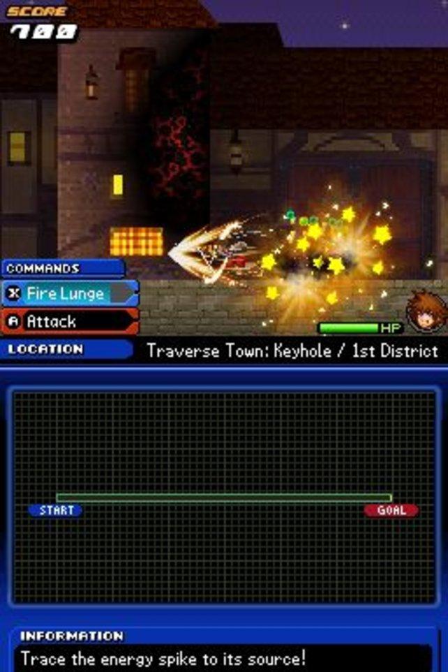 In einer Plattform-Sequenz nähert sich der hüpfender Held dem Boss der Stadt Traverse.