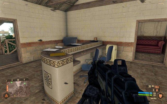 Auch das ist Crysis, die Innenräume sehen zum Teil grausam aus.