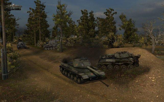 World of Tanks entfaltet seinen vollen Spielspaß erst mit einer Gruppe Kumpels.