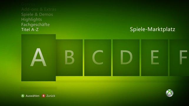 Die gezielte Suche nach Download-Inhalten funktioniert in Xbox Live durch einen intelligenten Aufbau problemlos.