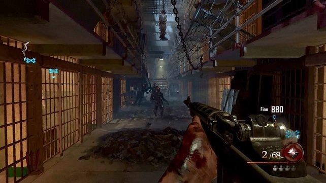 Die Zellentrakte in Alcatraz bieten ein willkommenes Zombie-Erlebnis.