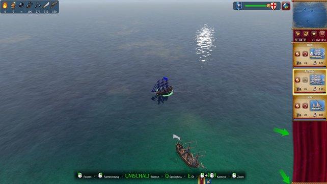 Die Seegefechte sind spielerisch mäßig unterhaltsam.