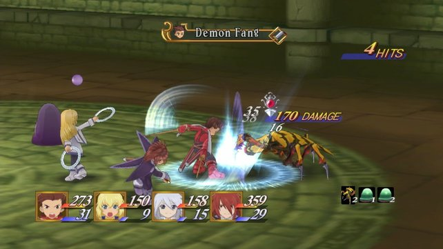 In den Kämpfen geht es Tales-typisch ziemlich wild zu.