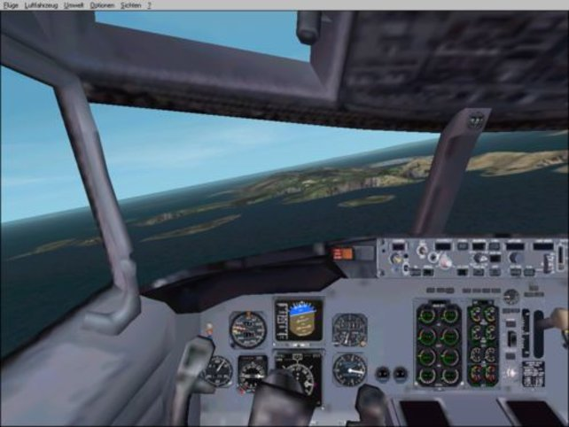 Das virtuelle Cockpit einer Boing 737