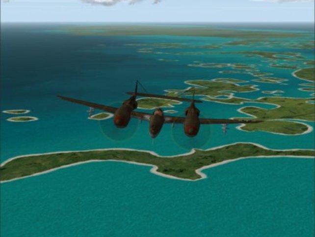 P38 vor der Welt der Atolle