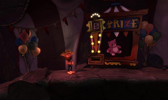 Ihr seid fünf Tickets vom rosa Teddy-Bären entfernt.