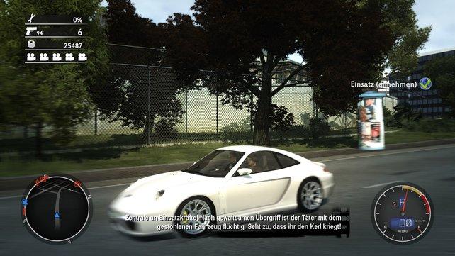 Die Helden aus der Serie seht ihr auch während der Fahrt im Auto sitzen.