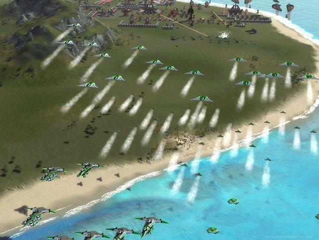 Ein Angriff aus der Luft