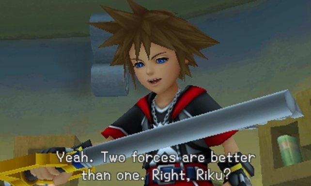 Sora muss sich einem neuen Schlüsselschwert-Training unterziehen.