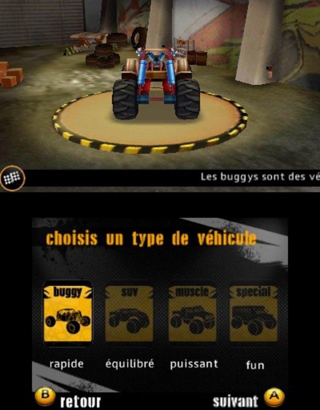 In diesem Menü könnt ihr euch euren Truck aussuchen und verbessern.