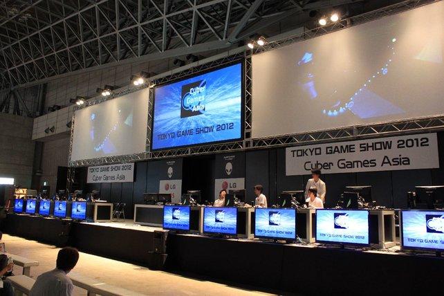 Die Cyber Games Asia werden hier in kleinerem Rahmen ausgetragen.