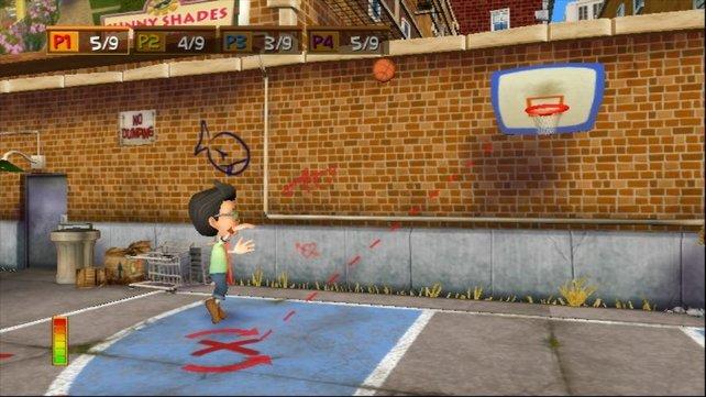Beim  Basketball 21 dürft ihr zur Abwechslung mal einen Ball werfen.