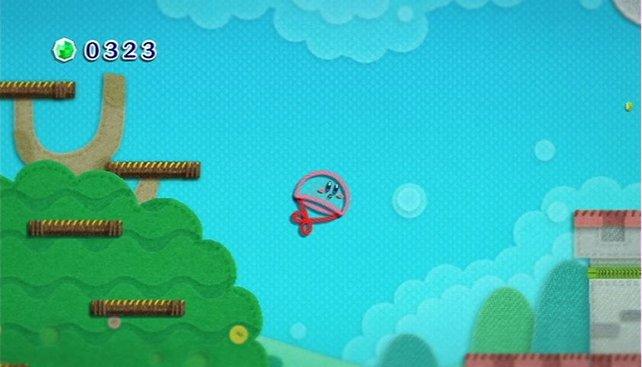Mit Kirby durchstreift ihr eine Welt aus Stoff. So süß!