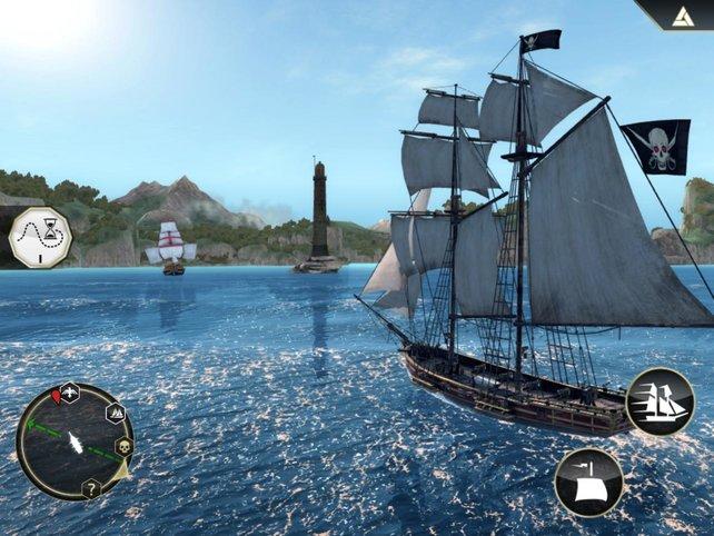 Dank eigenem Piratenschiff bereist ihr viele Karibikinseln.