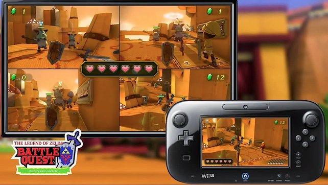 WiiMote und Gamepad arbeiten zusammen.