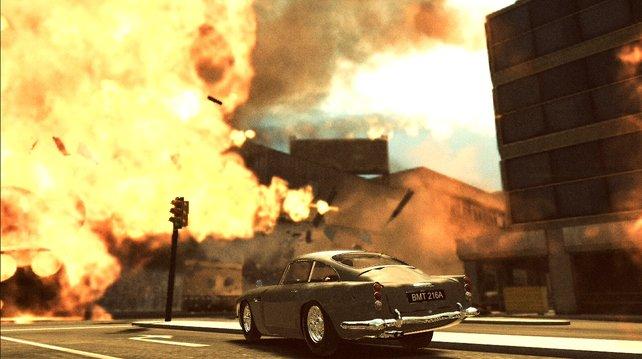 Bei den haarigen Rasereien quer durch die Städte geht's explosiv zu.
