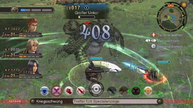 Das dynamische Kampfsystem sorgt für spannende Gefechte.