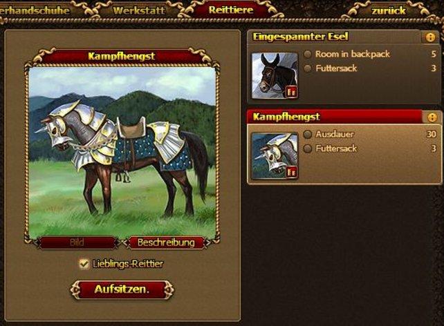 Die Entwickler haben sogar Pferde eingebaut.