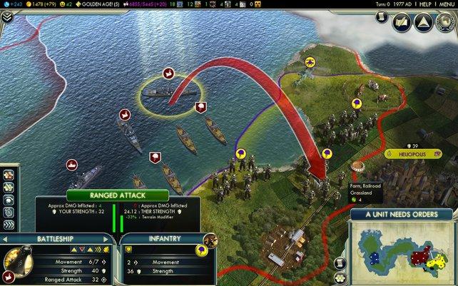 Mit der Brechstange: Ein Angriff von der Seeseite aus.
