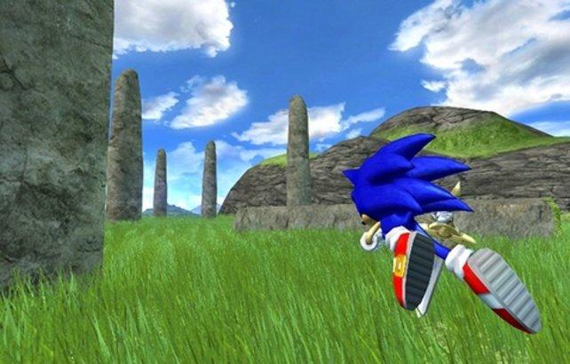 So kennen wir Sonic: Unter blauem Himmel durch die Gegend flitzen.