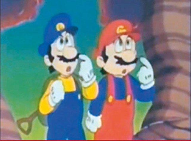 Luigi in einem frühen Anime. Woher das Wario-ähnliche Outfit kommt? Das weiß heute wohl keiner mehr.