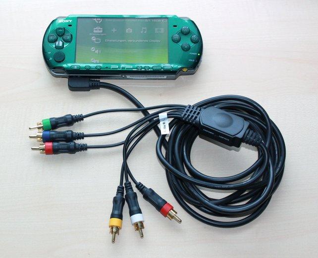 Mittels Adapterkabel schliesst ihr die PSP wie andere Konsolen an einen Videograbber an.