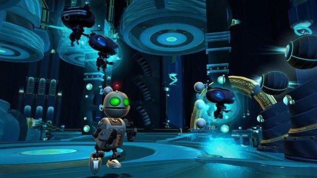 Auch mit Roboter Clank dürft ihr einige Abschnitte bestreiten