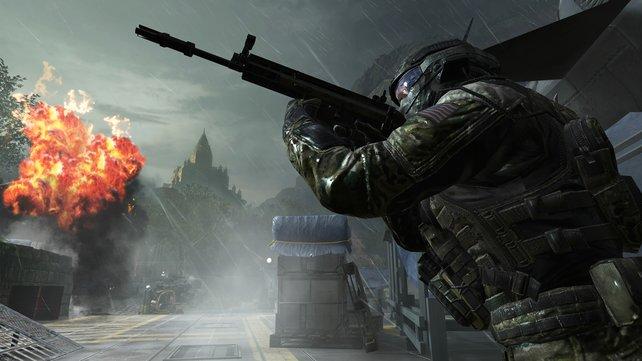 Das ultra-moderne Kriegsgeschehen von Black Ops 2 kommt nicht mehr so gut an wie Modern Warfare 3.